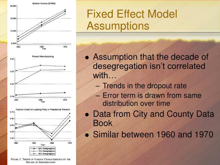 Fixed Effect Model Assumptions