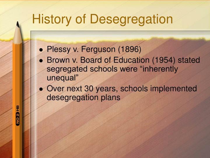 History of desegregation