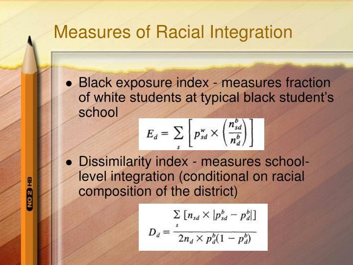 Measures of Racial Integration