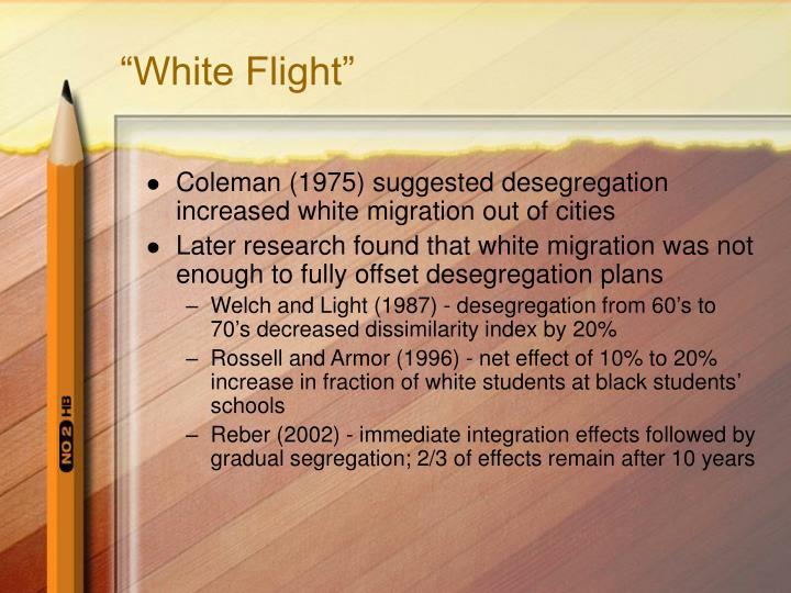 """White Flight"""