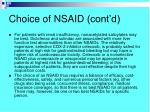 choice of nsaid cont d