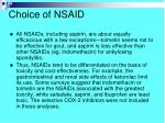 choice of nsaid