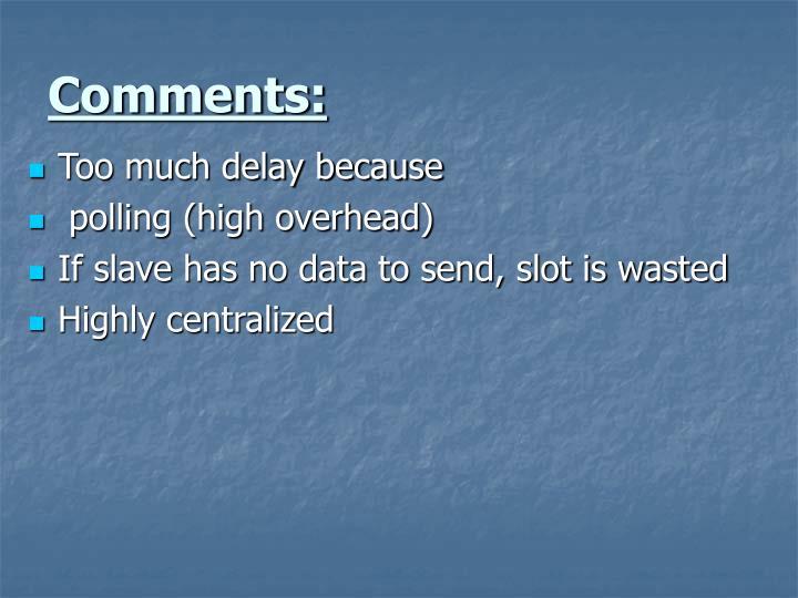 Comments: