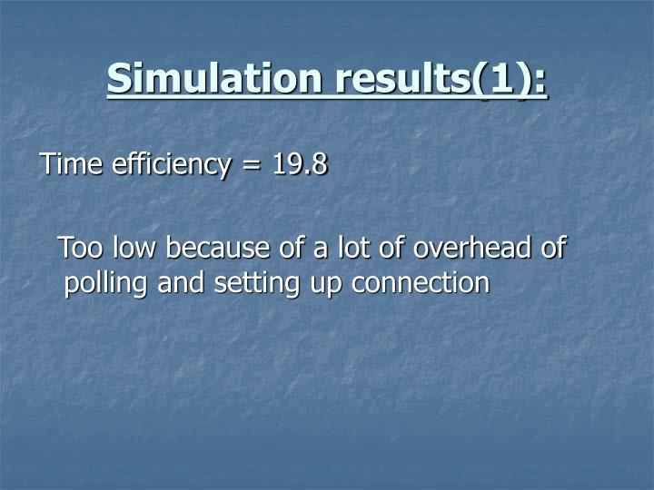 Simulation results(1):