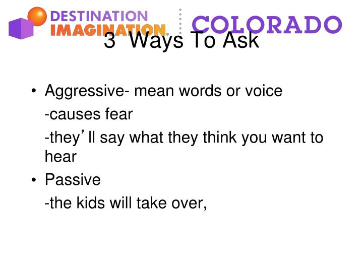 Aggressive- mean words or voice