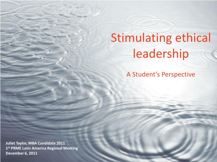 Stimulating ethical leadership a student s perspective