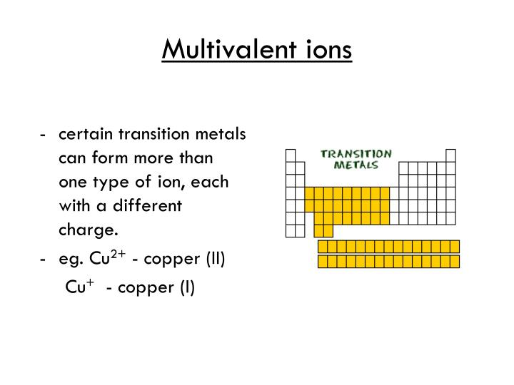 Multivalent ions