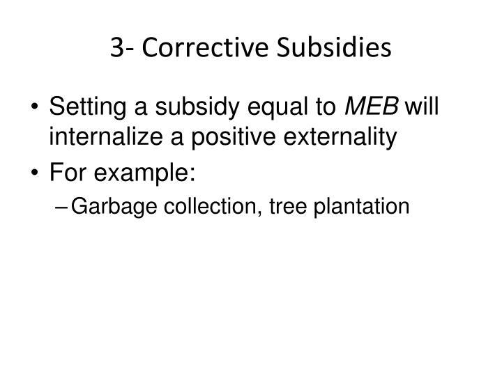3- Corrective Subsidies