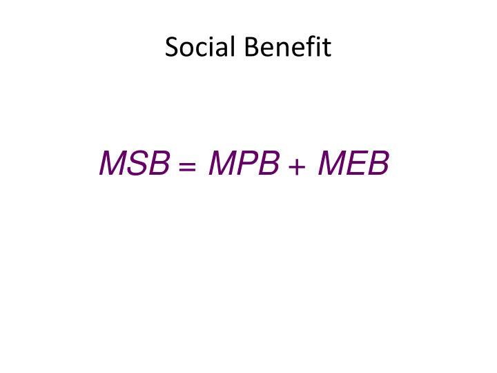 Social Benefit
