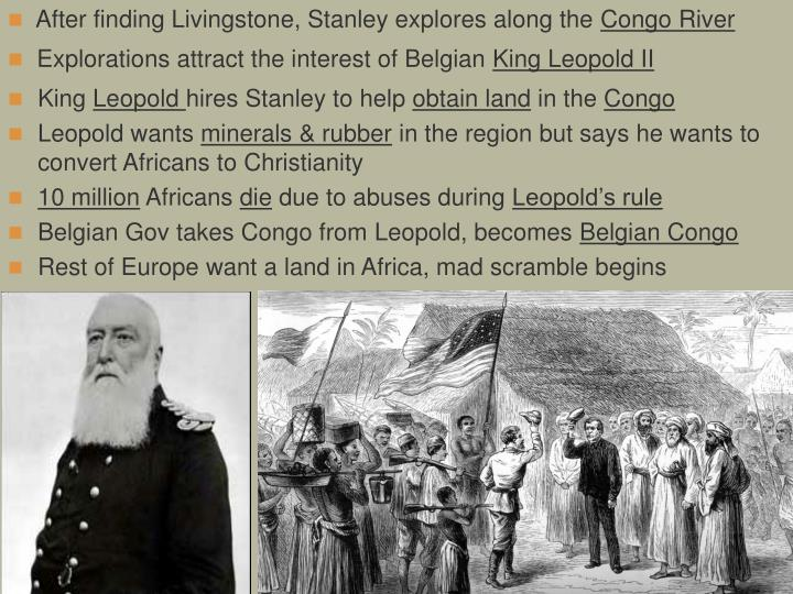 After finding Livingstone, Stanley explores along the
