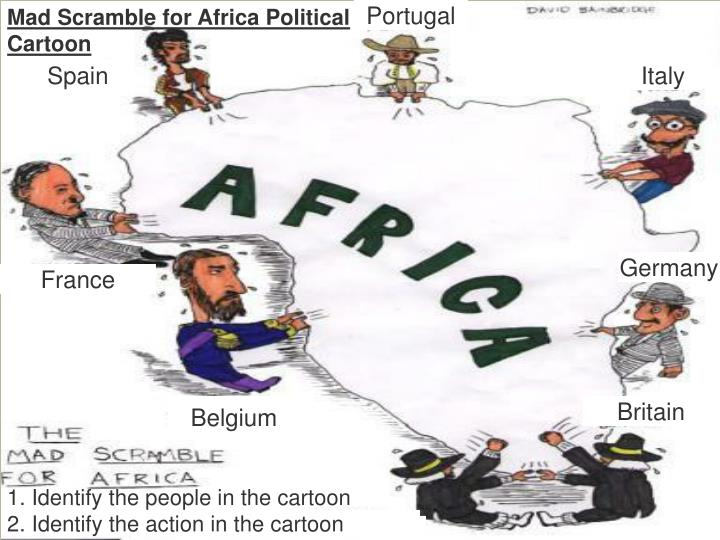 Mad Scramble for Africa Political Cartoon