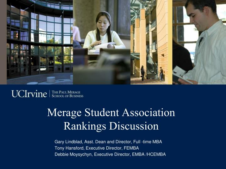 merage student association rankings discussion n.