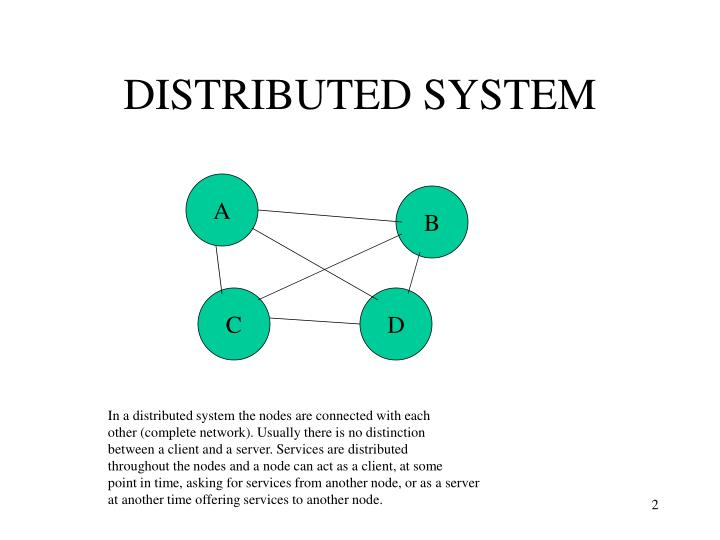 Distributed system