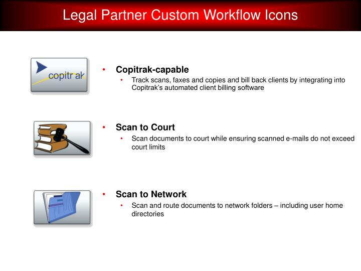 Legal Partner Custom Workflow Icons