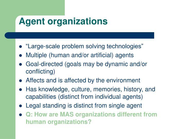 Agent organizations