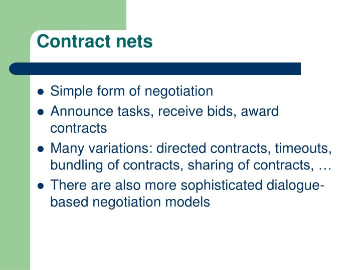 Contract nets