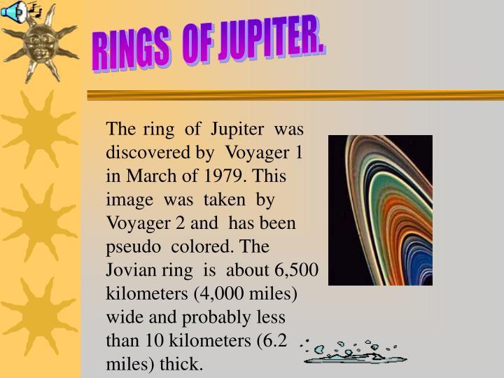 RINGS  OF JUPITER.