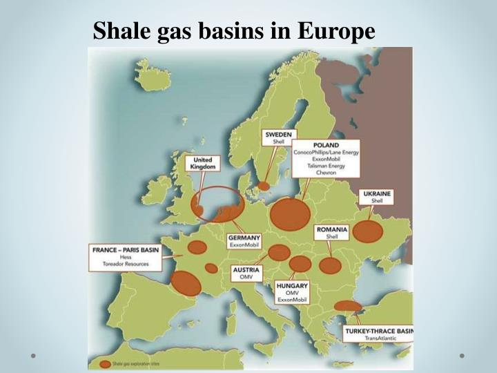 Shale gas basins in Europe