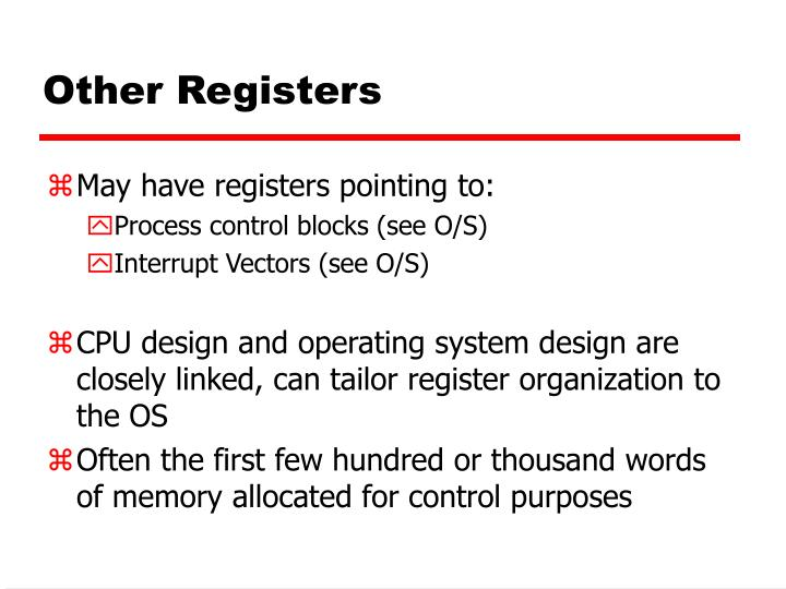 Other Registers