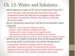ch 13 water and solutions