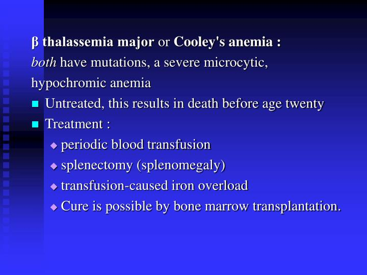 β thalassemia major
