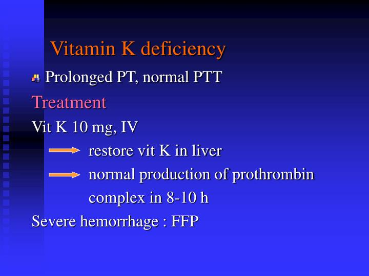 Vitamin K deficiency