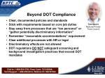 beyond dot compliance