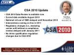 csa 2010 update