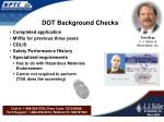 dot background checks