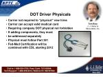 dot driver physicals