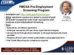 fmcsa pre employment screening program