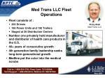 med trans llc fleet operations