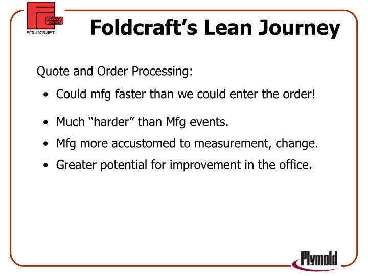 Foldcraft's Lean Journey