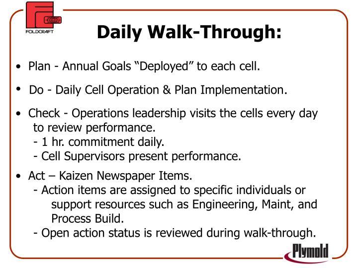 Daily Walk-Through: