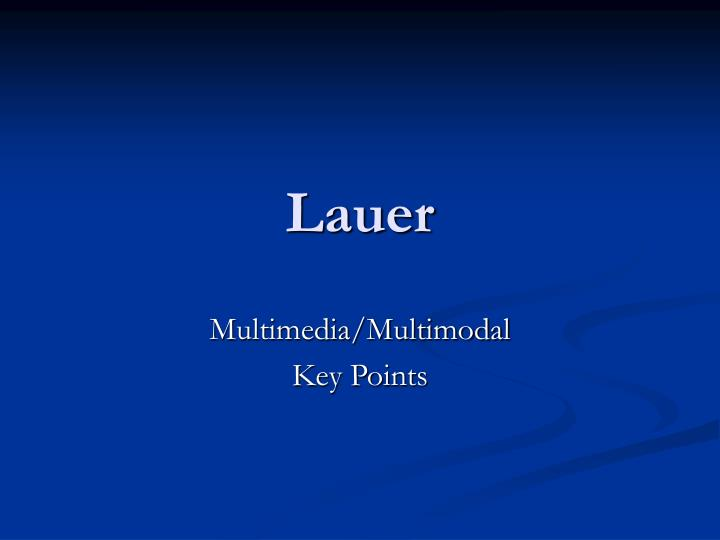 Lauer