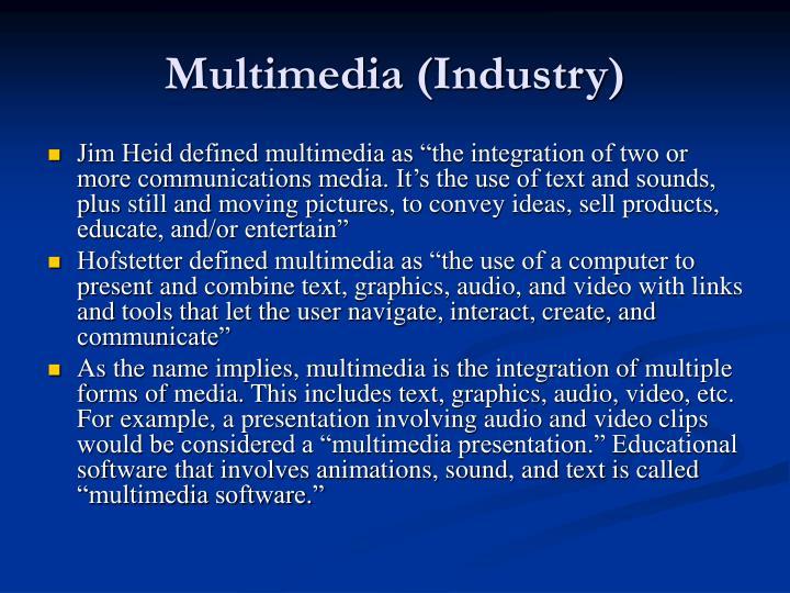 Multimedia (Industry)