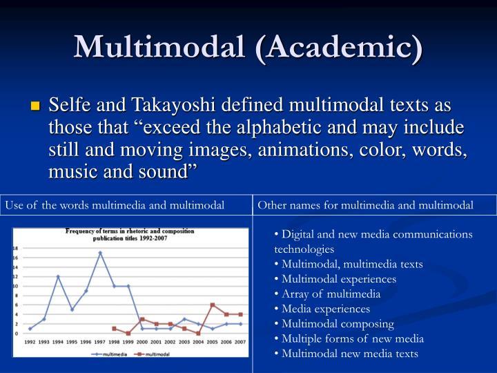 Multimodal (Academic)