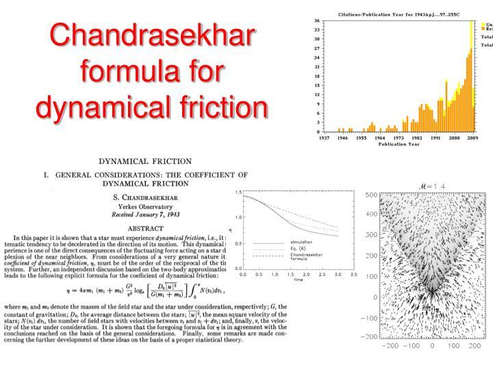 Chandrasekhar formula for dynamical friction