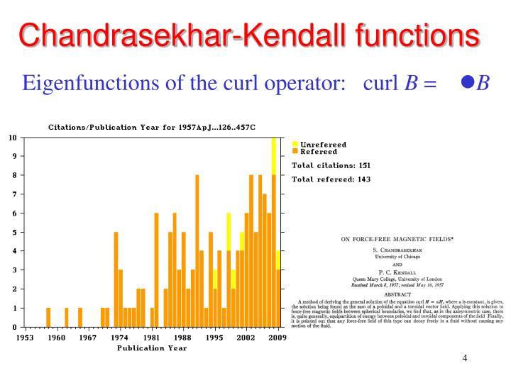 Chandrasekhar-Kendall functions