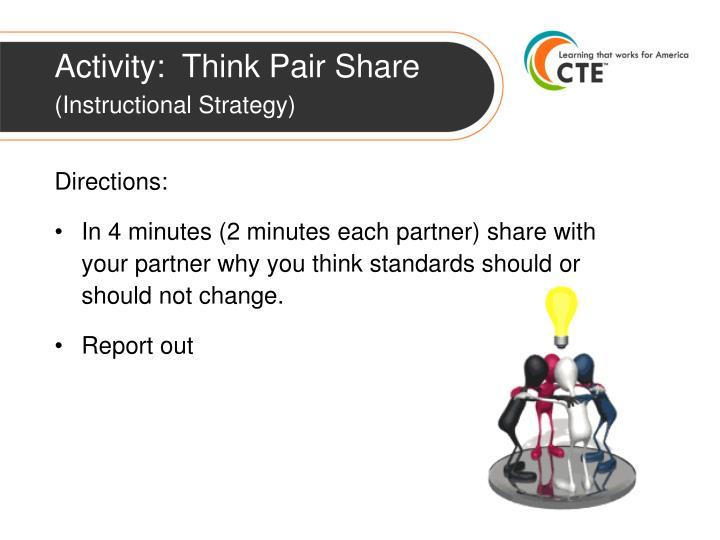Activity:  Think Pair Share