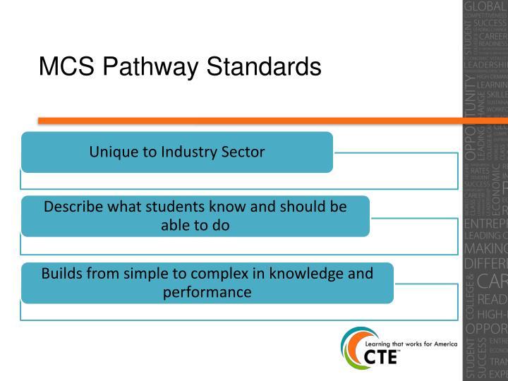 MCS Pathway Standards