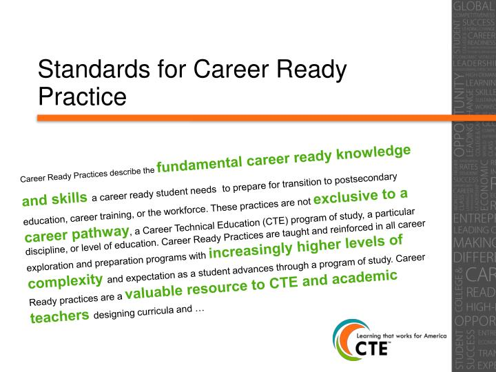 Standards for Career Ready Practice