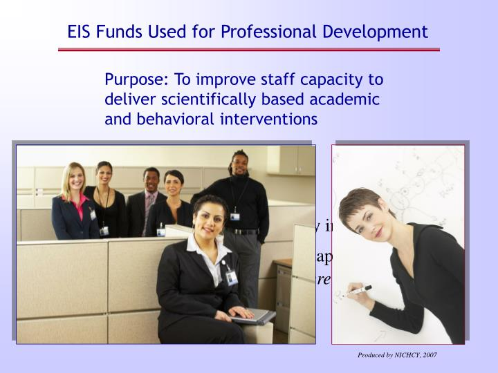 EIS Funds Used for Professional Development