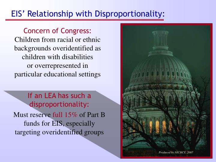 EIS' Relationship with Disproportionality: