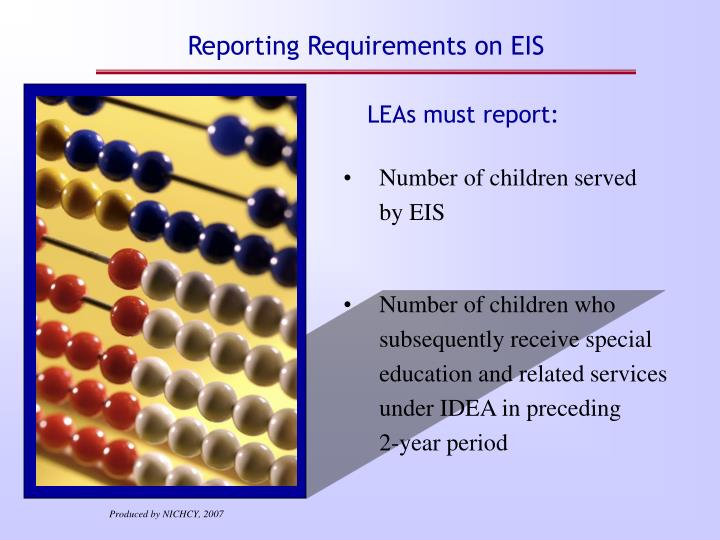 Reporting Requirements on EIS