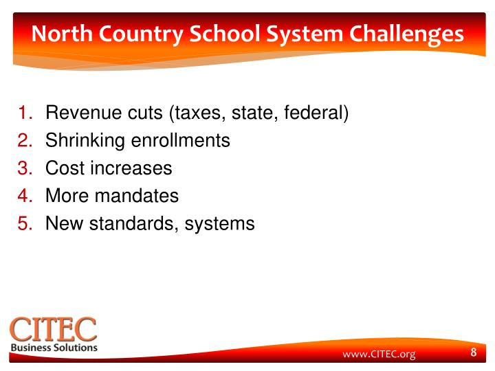 North Country School System Challenges