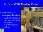 methods mri reading center