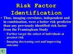 risk factor identification3