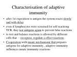 characterisation of adaptive immunity