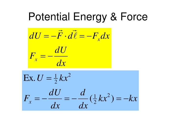 Potential Energy & Force